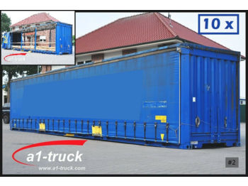 Tentinis kėbulas Krone 10 x WP 13,6 LS4-CS, 45 Fuss, Container, Lager: foto 1